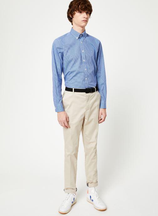 Vêtements Hackett London MINI TONE ON TONE GINGHAM SHIRT Bleu vue bas / vue portée sac