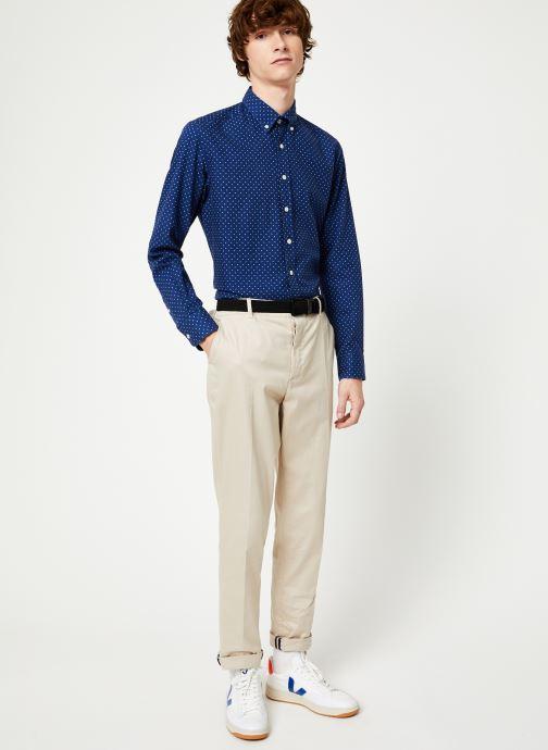 Vêtements Hackett London NAVY POLKA DOT PRINT SHIRT Bleu vue bas / vue portée sac