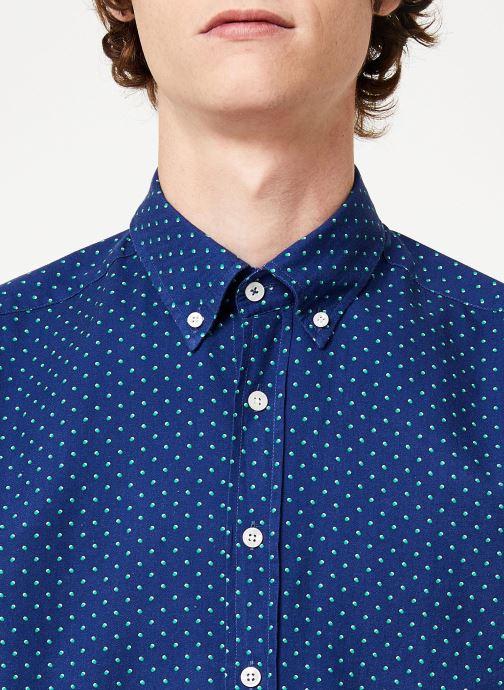 Vêtements Hackett London NAVY POLKA DOT PRINT SHIRT Bleu vue face