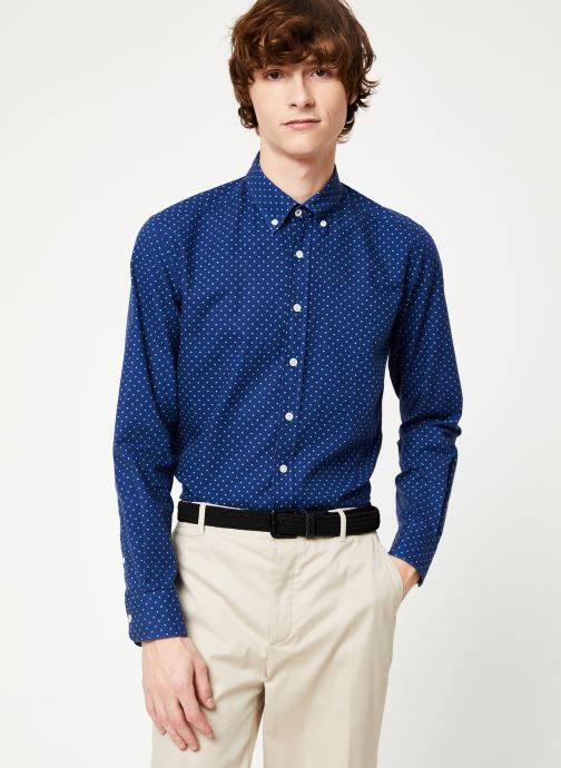 Vêtements Hackett London NAVY POLKA DOT PRINT SHIRT Bleu vue détail/paire