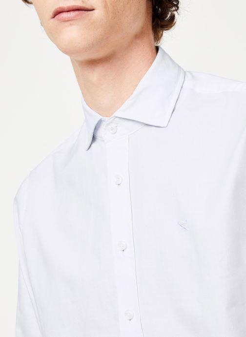 Vêtements Hackett London BRUSHED COTTON MULTI TRIM SHIRT Blanc vue face