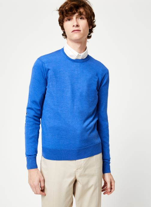 Vêtements Hackett London FF GG MERINO CREW Bleu vue détail/paire