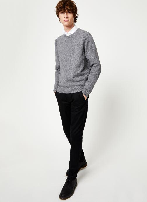 Vêtements Hackett London ARCADE CREW Gris vue bas / vue portée sac