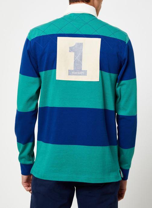 Vêtements Hackett London QUILT STR RBY Bleu vue portées chaussures