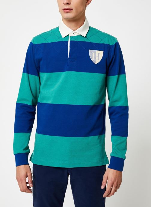 Vêtements Hackett London QUILT STR RBY Bleu vue droite