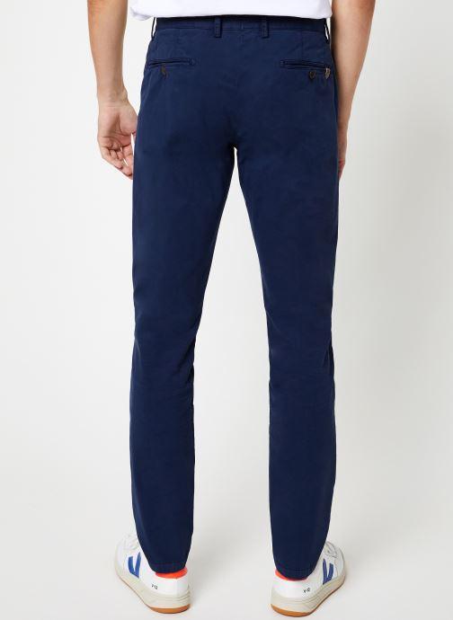 Vêtements Hackett London GMT DYE TEXTURE Bleu vue portées chaussures