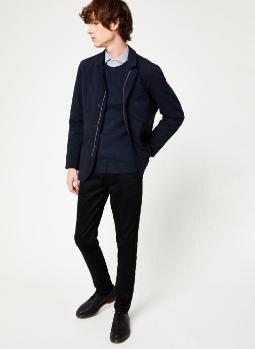 Vêtements Hackett London NYLON BLAZER Bleu vue bas / vue portée sac