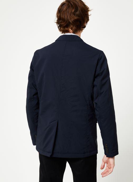 Vêtements Hackett London NYLON BLAZER Bleu vue portées chaussures