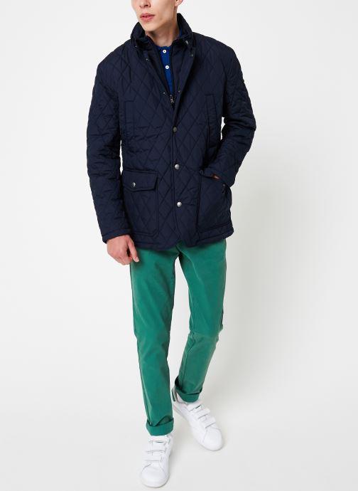Vêtements Hackett London QUILTED ZIP OUT JACKET Bleu vue bas / vue portée sac