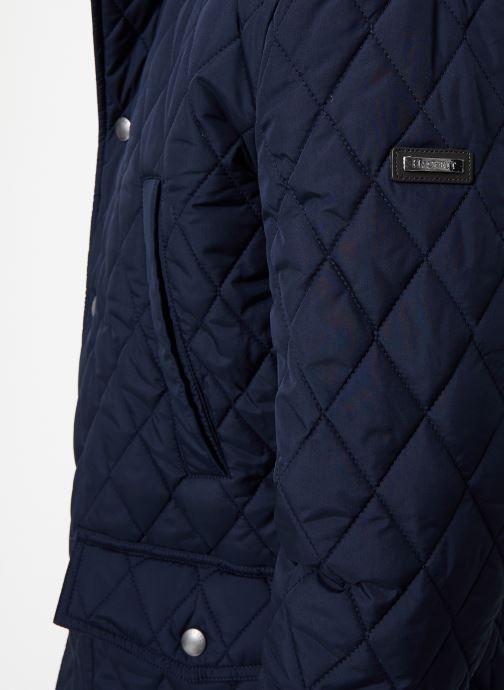 Vêtements Hackett London QUILTED ZIP OUT JACKET Bleu vue face