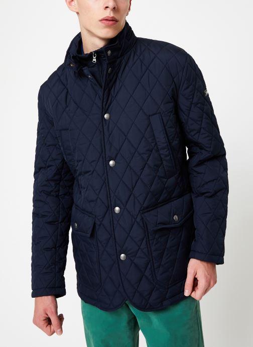 Vêtements Hackett London QUILTED ZIP OUT JACKET Bleu vue droite