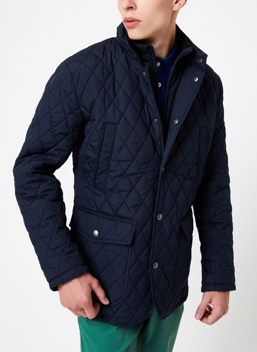 Vêtements Hackett London QUILTED ZIP OUT JACKET Bleu vue détail/paire