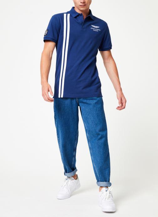Vêtements Hackett London AMR VERT STRS Bleu vue bas / vue portée sac