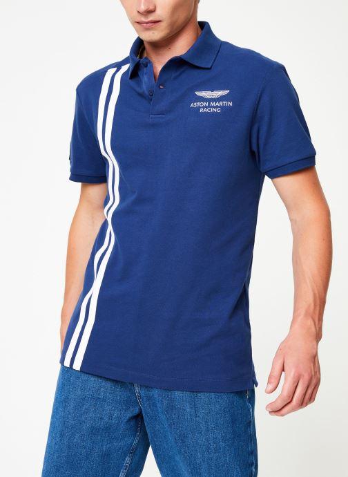 Vêtements Hackett London AMR VERT STRS Bleu vue droite