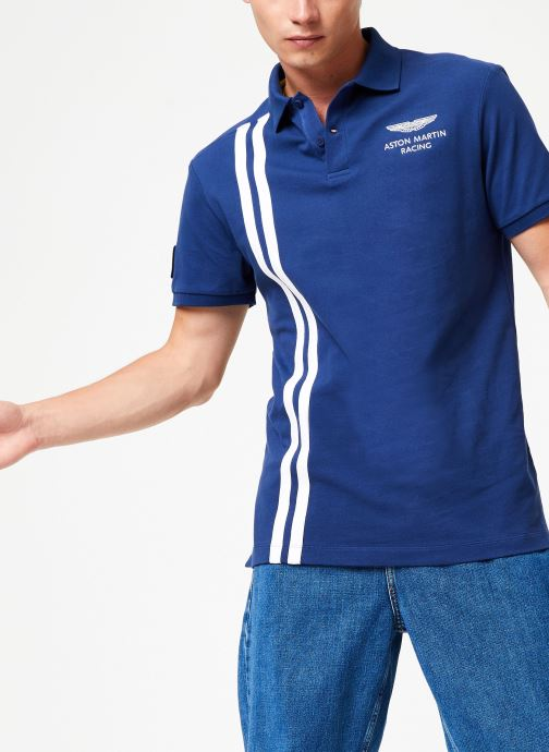 Vêtements Hackett London AMR VERT STRS Bleu vue détail/paire