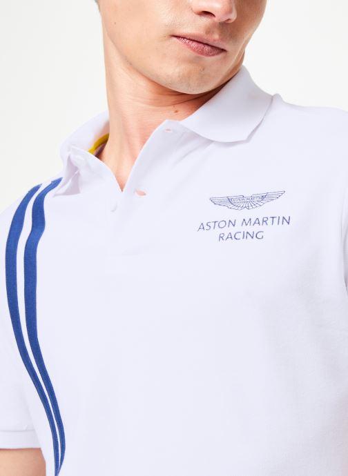 Vêtements Hackett London AMR VERT STRS Blanc vue face