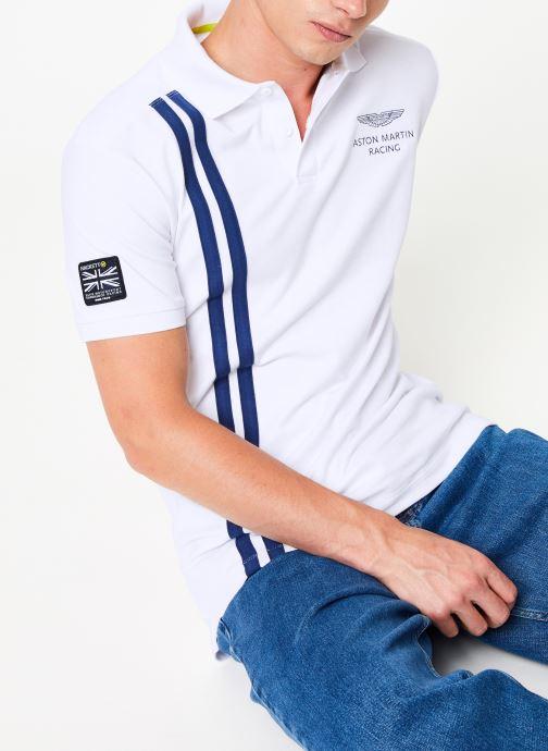 Vêtements Hackett London AMR VERT STRS Blanc vue détail/paire