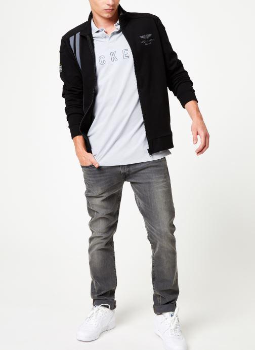 Vêtements Hackett London AMR MULTI Blanc vue bas / vue portée sac