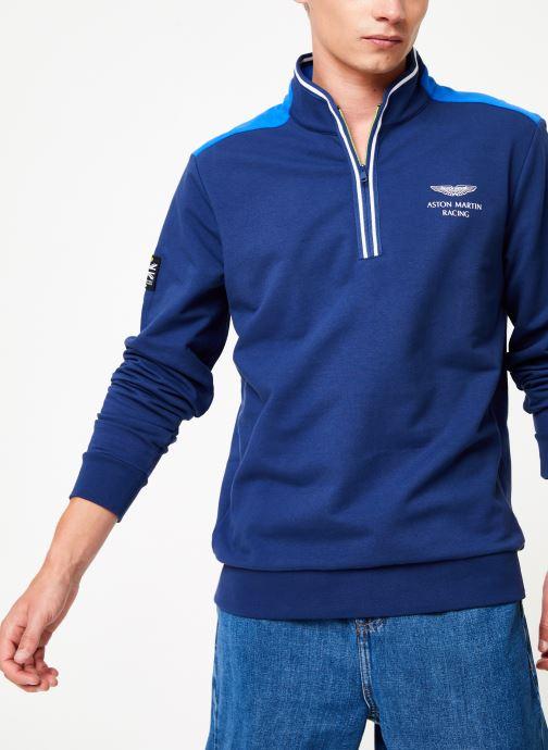 Vêtements Hackett London AMR HALF ZIP Bleu vue détail/paire