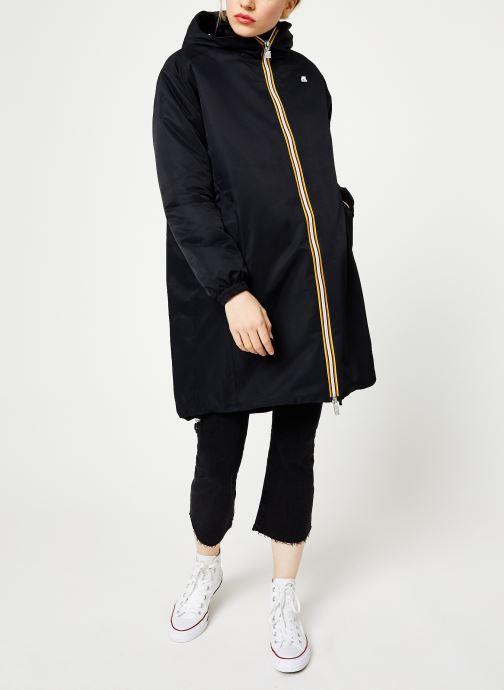 Vêtements K-Way  CLELIE NYLON FUR Noir vue bas / vue portée sac