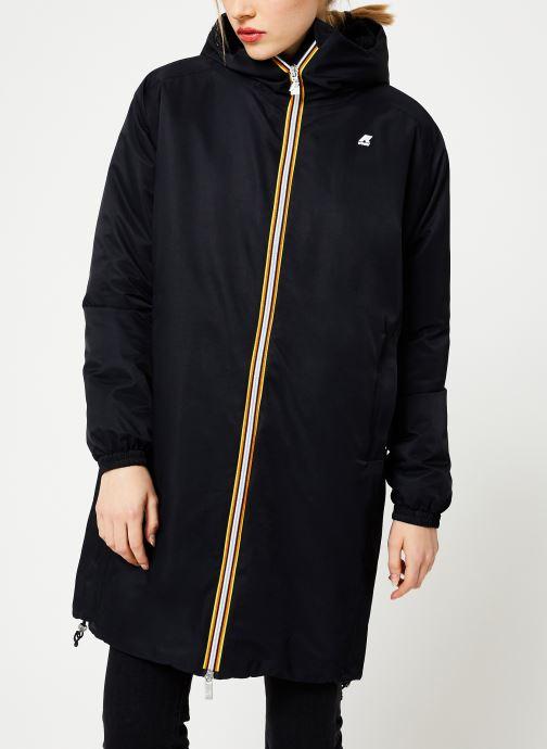 Vêtements K-Way  CLELIE NYLON FUR Noir vue droite