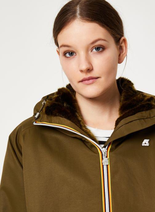 Vêtements K-Way  CLELIE NYLON FUR Vert vue face