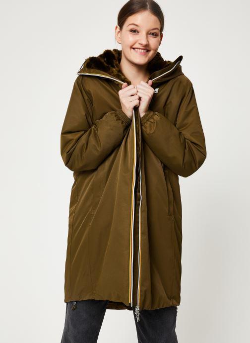 Vêtements K-Way  CLELIE NYLON FUR Vert vue détail/paire