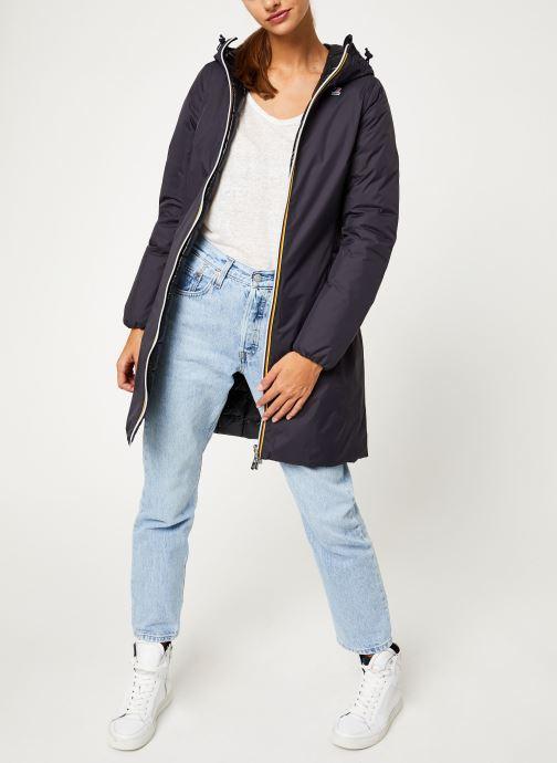Vêtements K-Way  CHARLENE THERMO PLUS DOUBLE Noir vue bas / vue portée sac