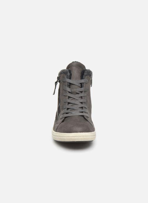 Baskets I Love Shoes SATCH Gris vue portées chaussures