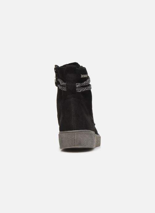 Botines  I Love Shoes SUEDA Negro vista lateral derecha