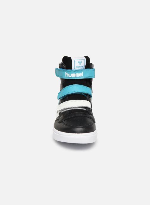Baskets Hummel Stadil Pro JR Noir vue portées chaussures