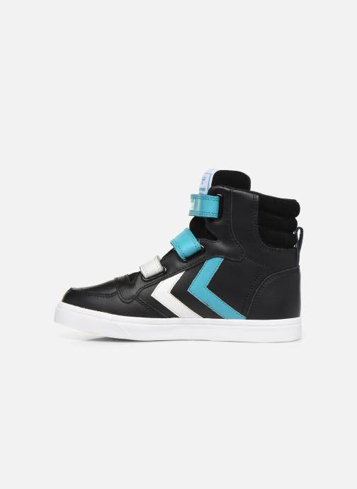 Sneaker Hummel Stadil Pro JR schwarz ansicht von vorne