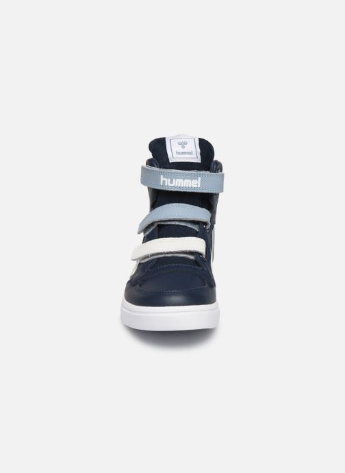 Baskets Hummel Stadil Pro JR Bleu vue portées chaussures
