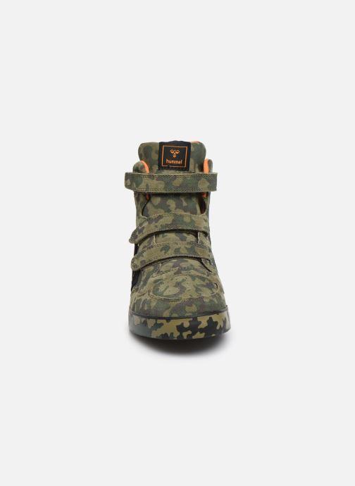 Sneaker Hummel Stadil Pro JR grün schuhe getragen