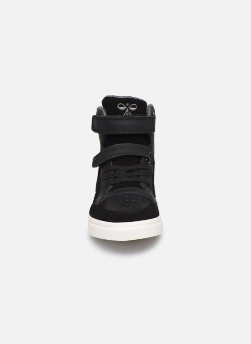 Baskets Hummel Stadil Winter High JR Noir vue portées chaussures
