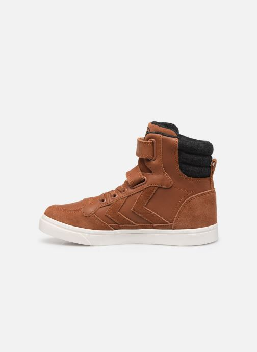 Trainers Hummel Stadil Winter High JR Brown front view