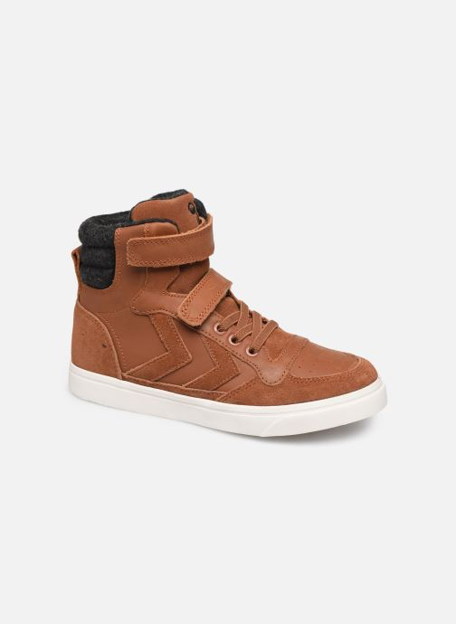 Trainers Hummel Stadil Winter High JR Brown detailed view/ Pair view