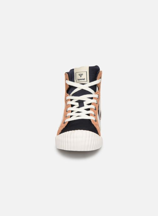 Baskets Hummel Stadil Mid JR Bleu vue portées chaussures