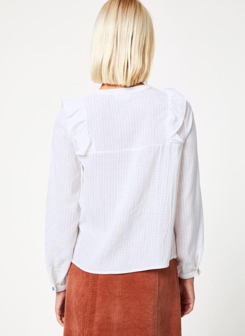 Vêtements Garance CHALVA Blanc vue portées chaussures