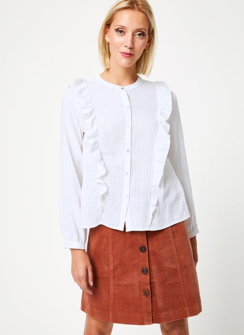 Vêtements Garance CHALVA Blanc vue détail/paire