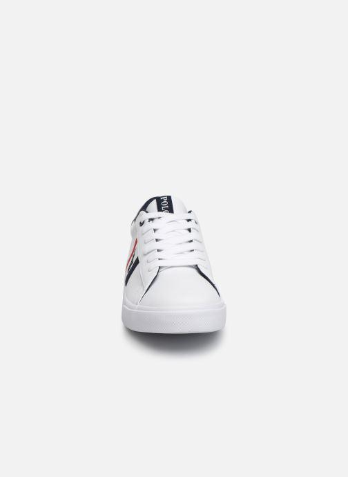 Baskets Polo Ralph Lauren Geoff II Blanc vue portées chaussures