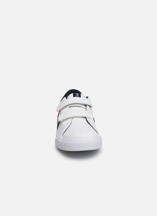 Baskets Polo Ralph Lauren Geoff II EZ Blanc vue portées chaussures