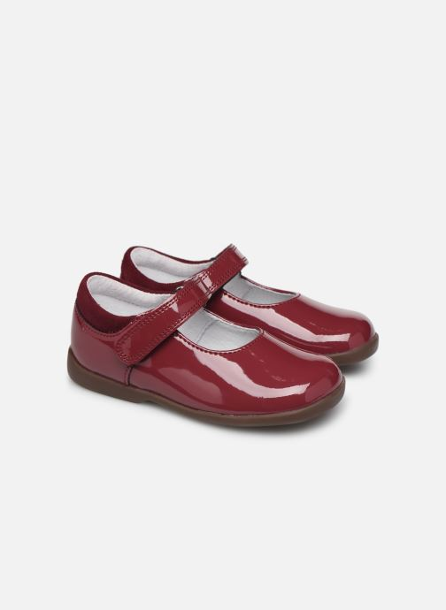 Ballerines Start Rite Slide Classics Bordeaux vue 3/4