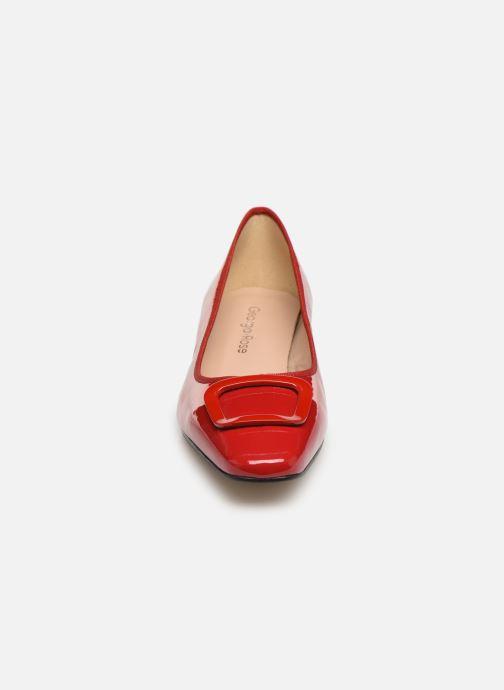 Ballerines Georgia Rose Socoran Rouge vue portées chaussures