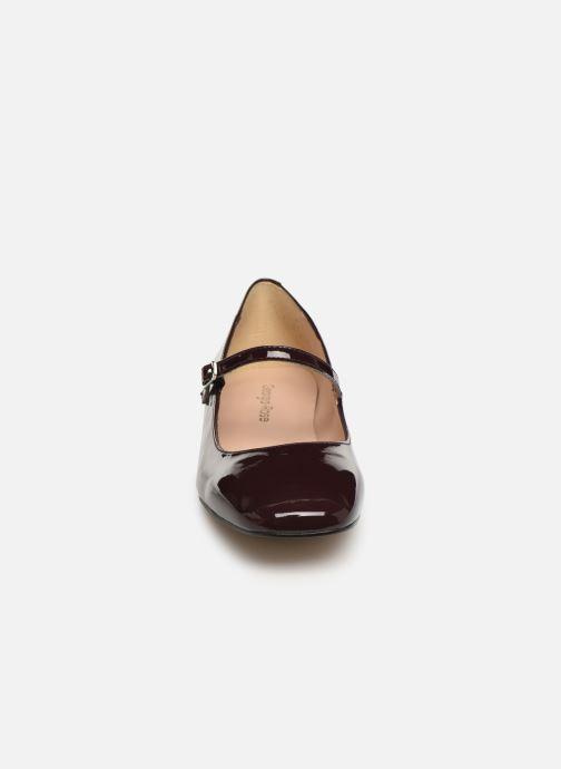 Ballerines Georgia Rose Secra Bordeaux vue portées chaussures