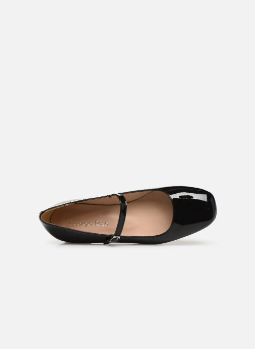 Ballet pumps Georgia Rose Secra Black view from the left