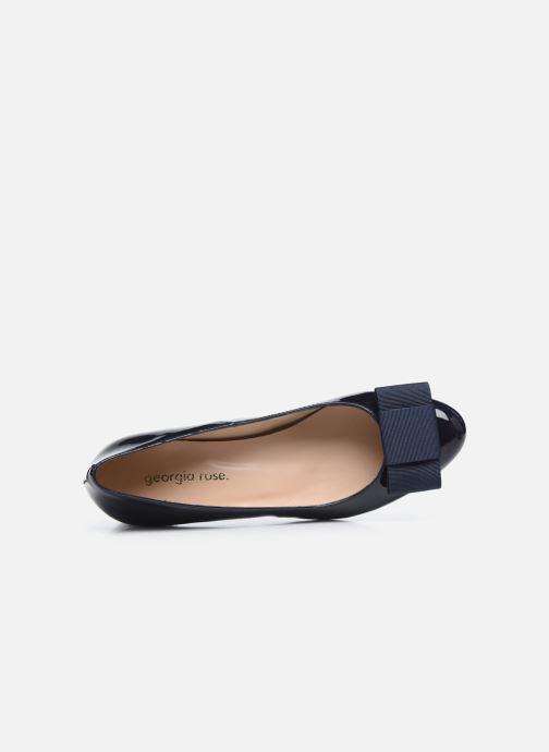 Zapatos de tacón Georgia Rose Silvia Azul vista lateral izquierda
