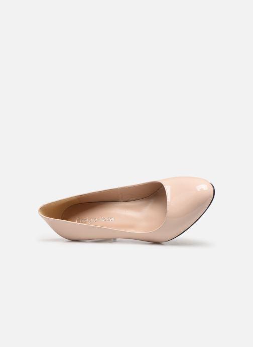 Zapatos de tacón Georgia Rose Suemy Beige vista lateral izquierda