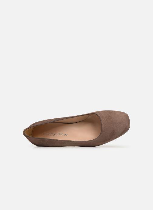 Zapatos de tacón Georgia Rose Seni Marrón vista lateral izquierda