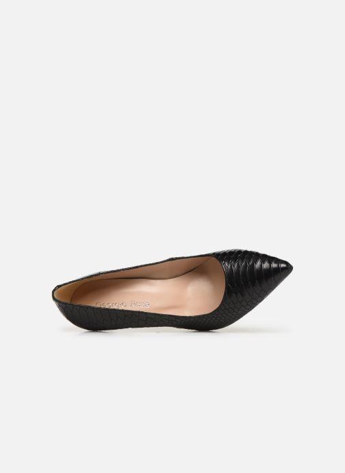 Zapatos de tacón Georgia Rose Snakal Negro vista lateral izquierda